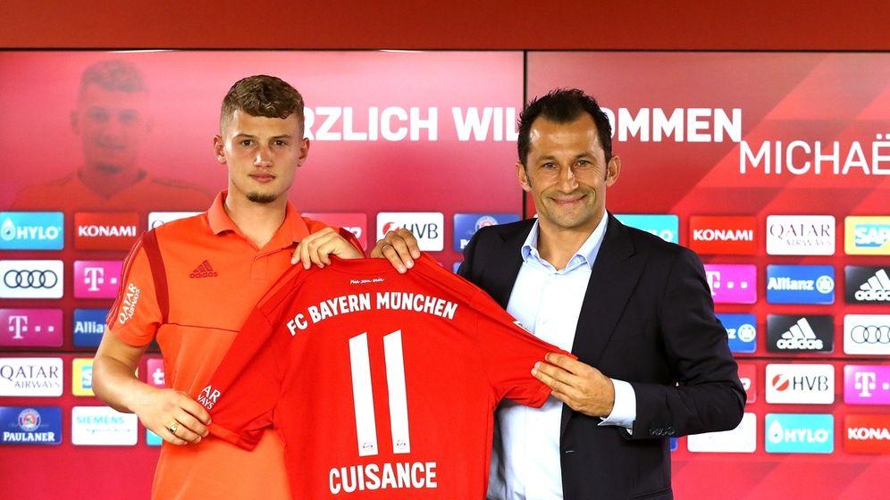 Mickaël Cuisance und Hasan Salihamidzic | Bild:picture-alliance/dpa