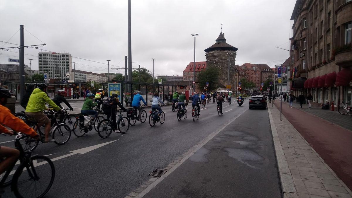 Nürnberger Critical Mass am 28.08.2020.
