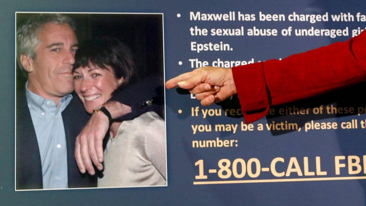 Bild von Jeffrey Epstein und Ghislaine Maxwell. Maxwell ist die frühere Partnerin von Epstein, dem Sexualverbrechen vorgeworfen wurden.