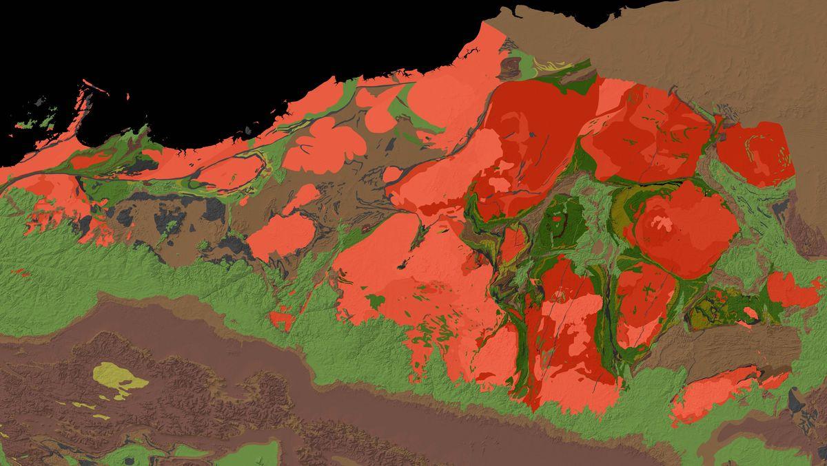 Geologische Karte von Pilbara Craton