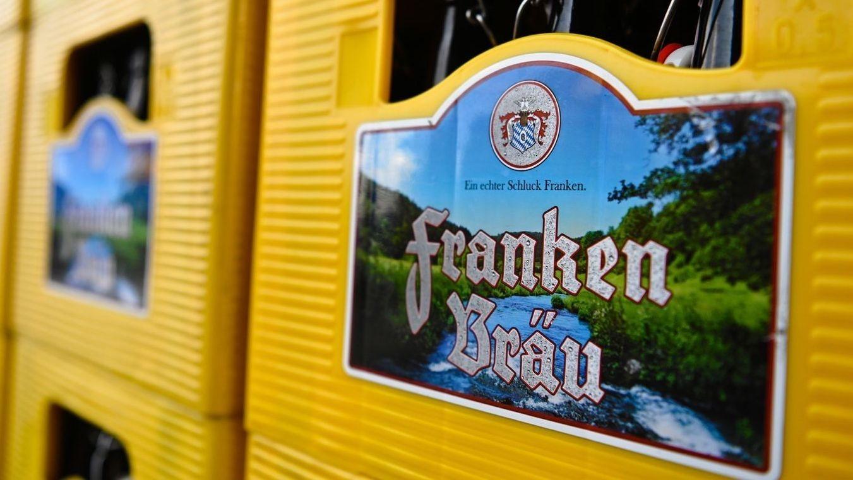 Bierkästen von Franken Bräu