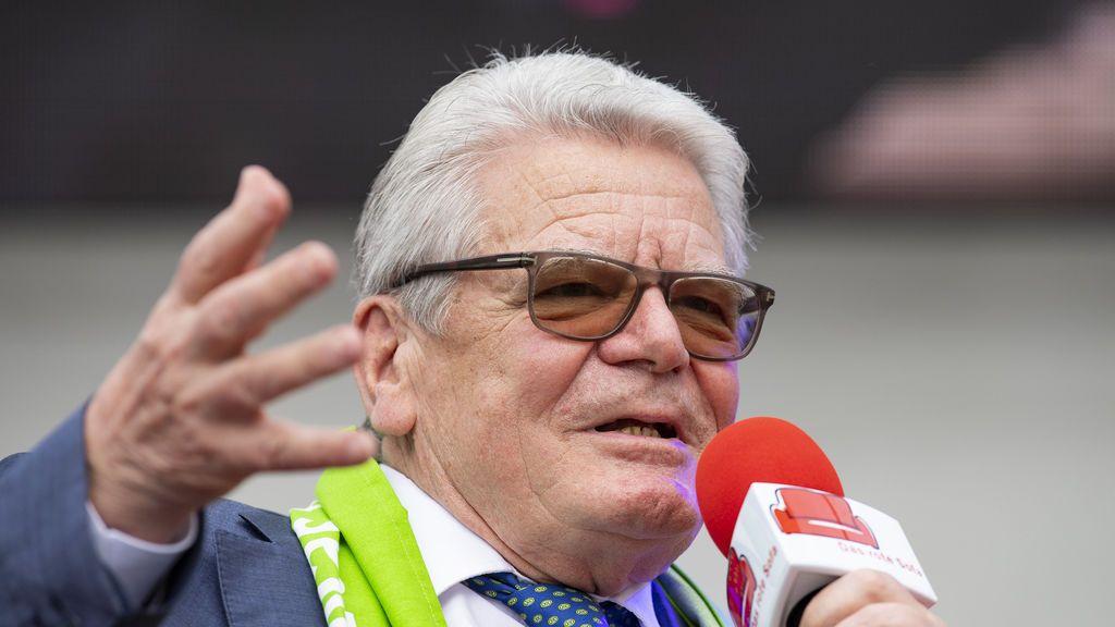 Altbundespräsident Joachim Gauck beim Evangelischen Kirchentag in Dortmund.