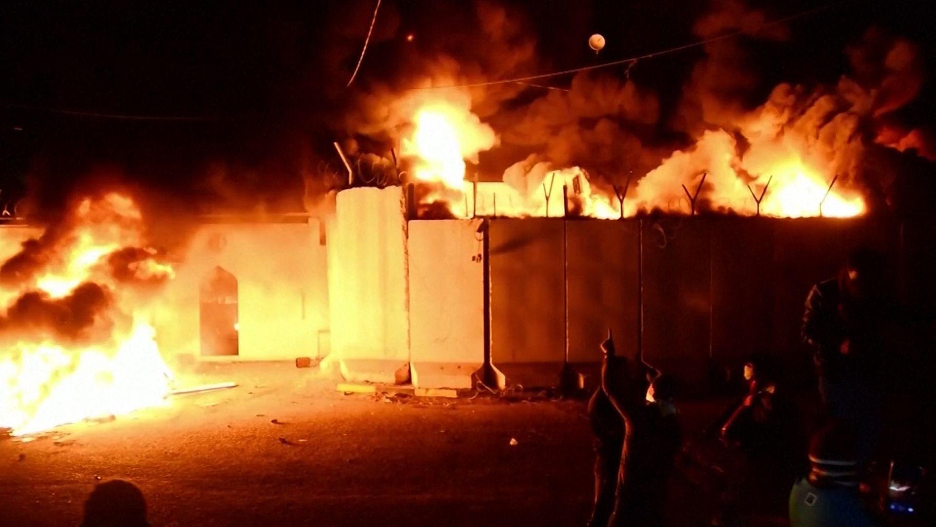 Das brennende Konsulat in Nadschaf