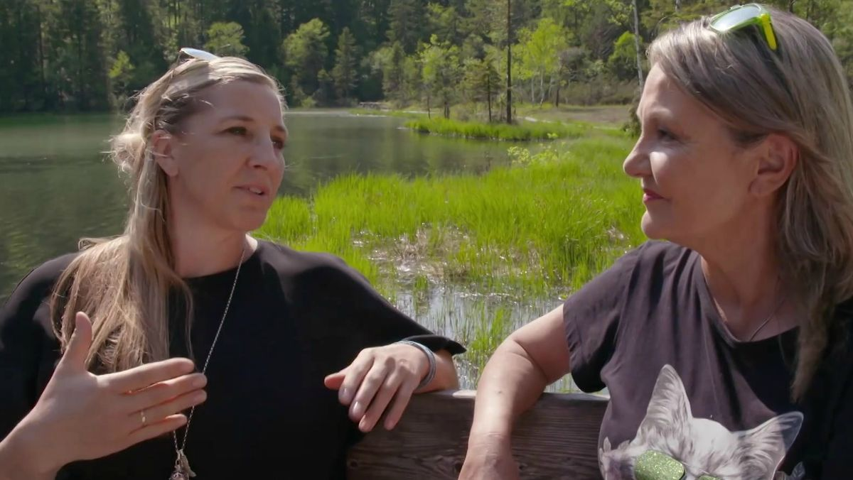 Marianne Kreuzer mit Anni Friesinger