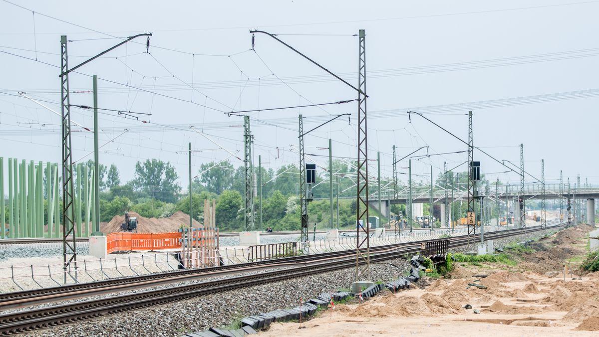 Bauarbeiten an der ICE-Strecke Bamberg-Erfurt, aufgenommen am 09.05.2020.