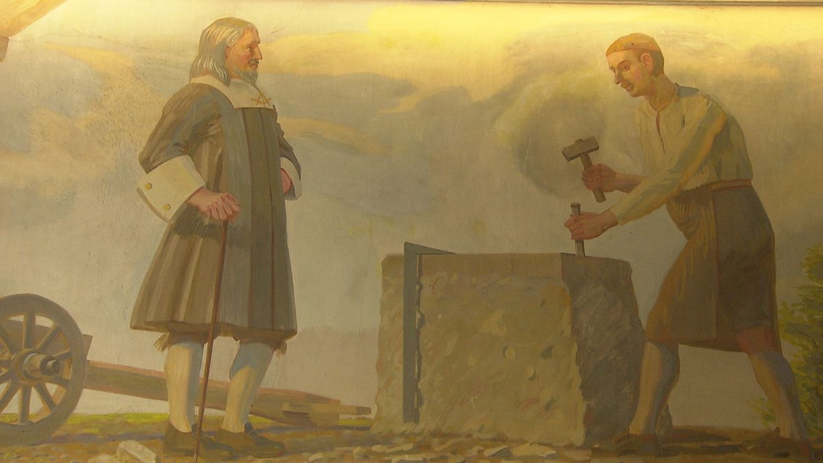 Allegorisches Wandbild