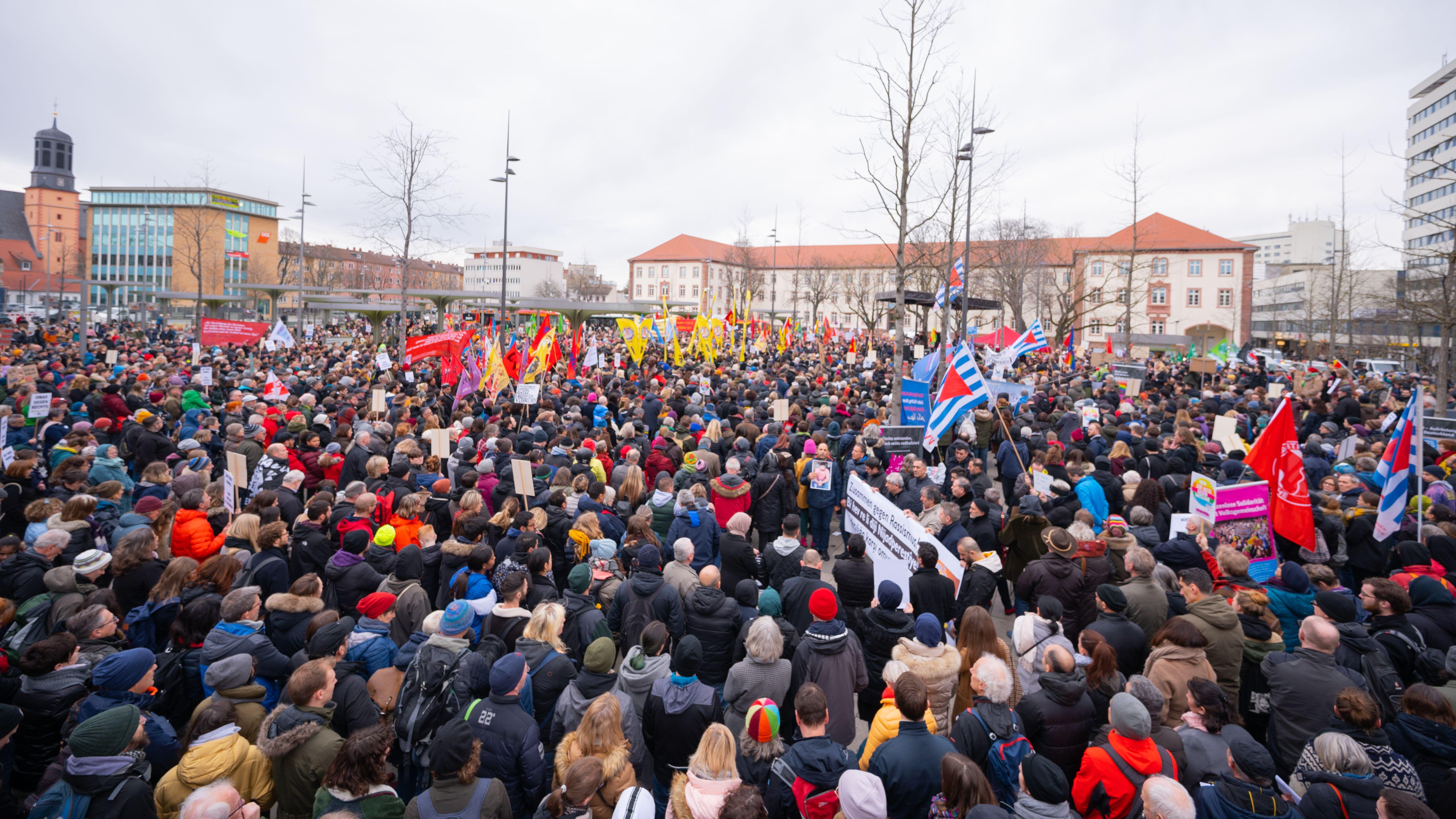Demonstration in Hanau