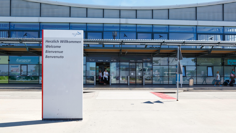 Terminal des Allgäu Airports in Memmingen