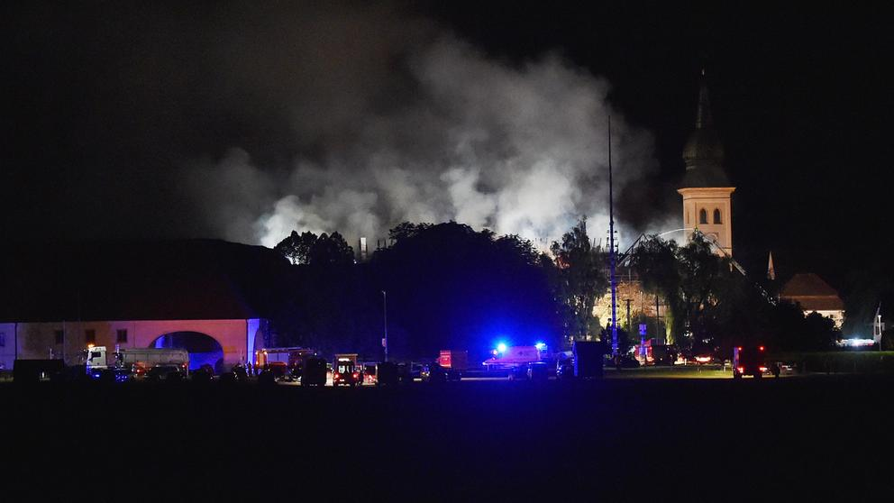 Brand des Fohlenhofs am Kloster Rottenbuch | Bild:dpa / picture-alliance
