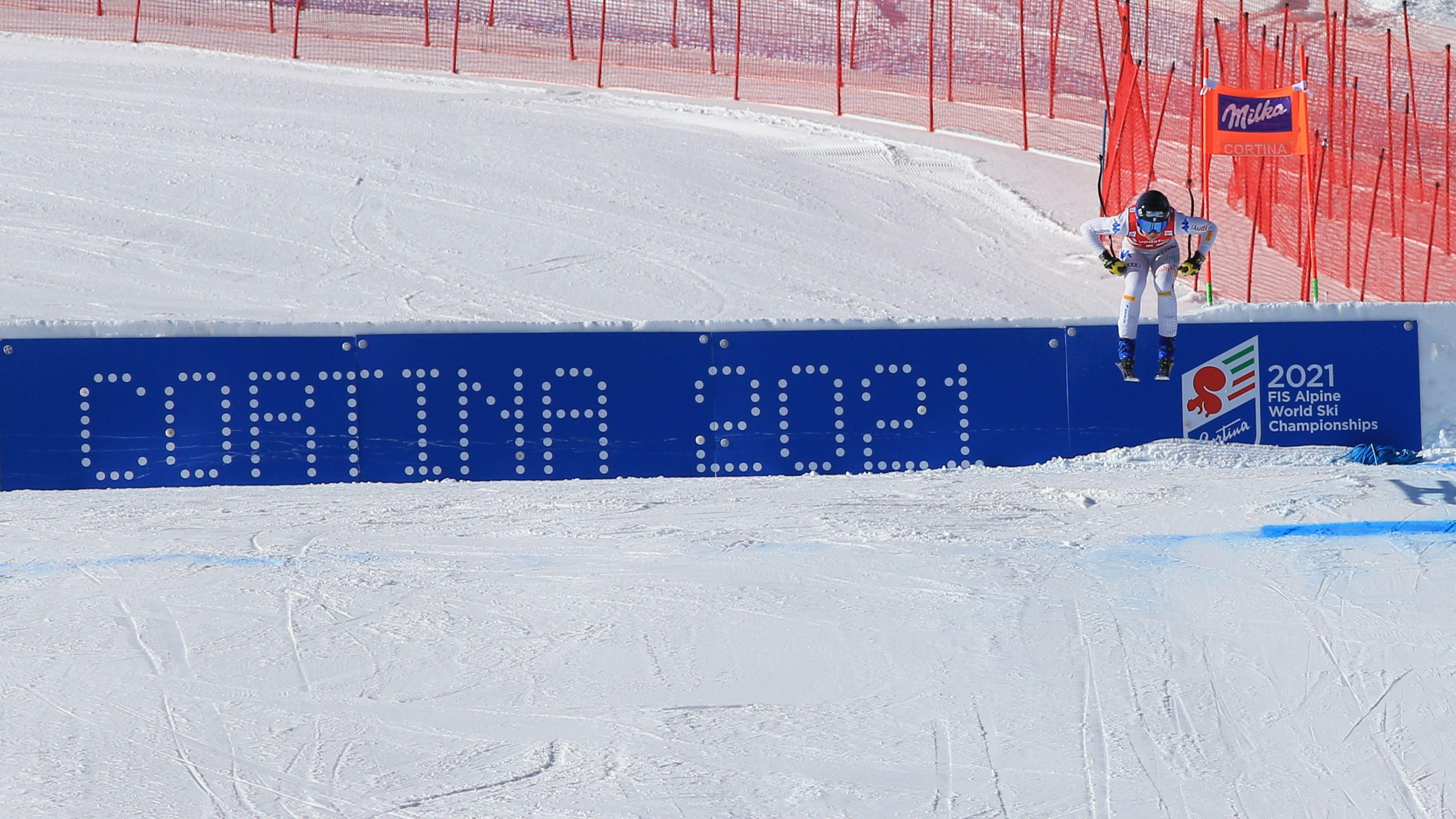 Abfahrt in Cortina d'Ampezzo