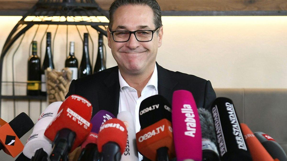"""Der frühere FPÖ-Parteichef Heinz Christian Strache im Rahmen einer Pressekonferenz """"Persönliche Erklärung"""" am Dienstag, 01. Oktober 2019 in Wien."""