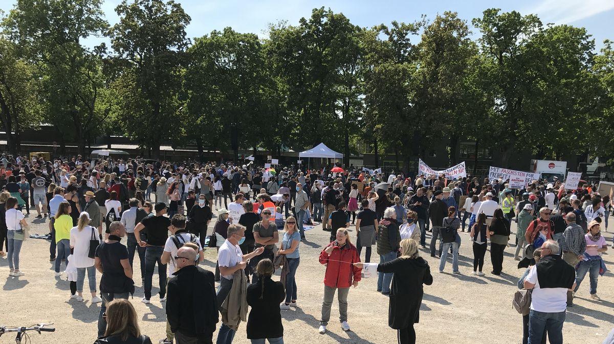 Proteste gegen Corona-Maßnahmen in Augsburg
