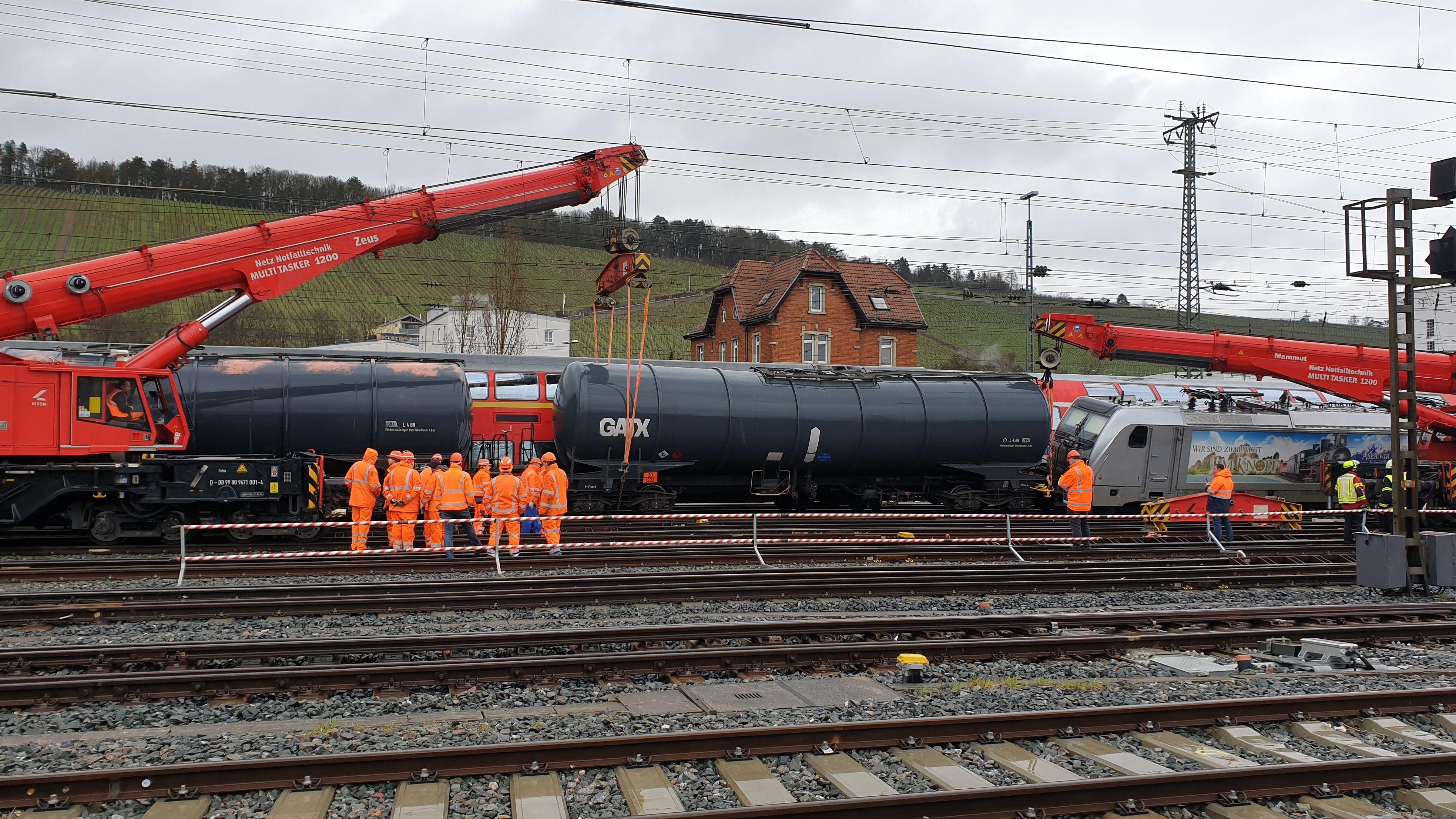 Zugunfall in Würzburg