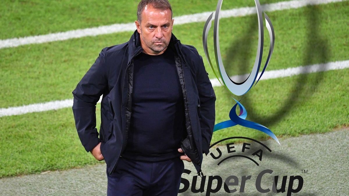 Trainer Hansi Flick vor dem Supercup-Spiel
