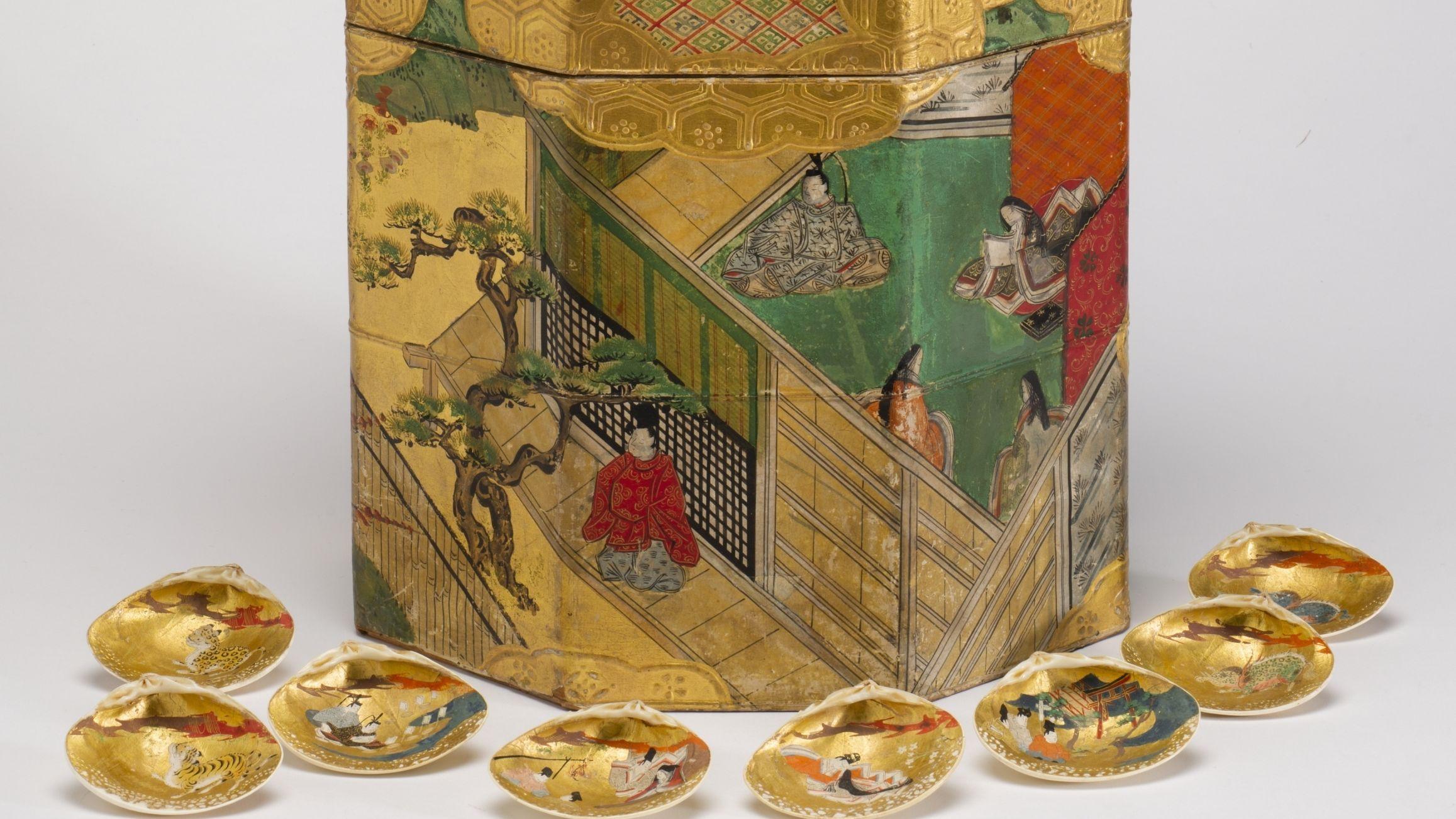 Muschelspiel, Japan, Edo-Zeit (1603–1868)