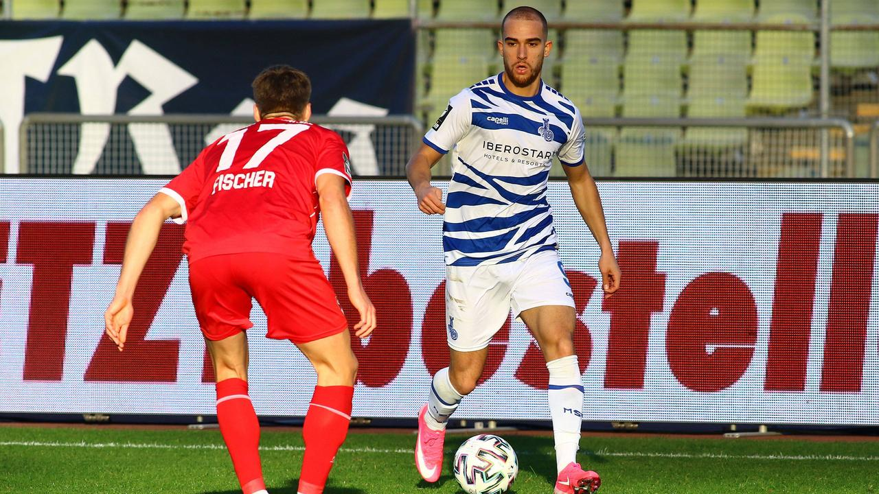 Spielszene MSV Duisburg - Türkgücü München