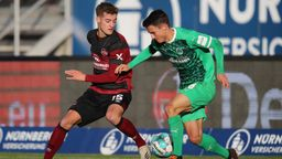 Spielszene 1. FC Nürnberg - SpVgg Greuther Fürth | Bild:Daniel Karmann/dpa