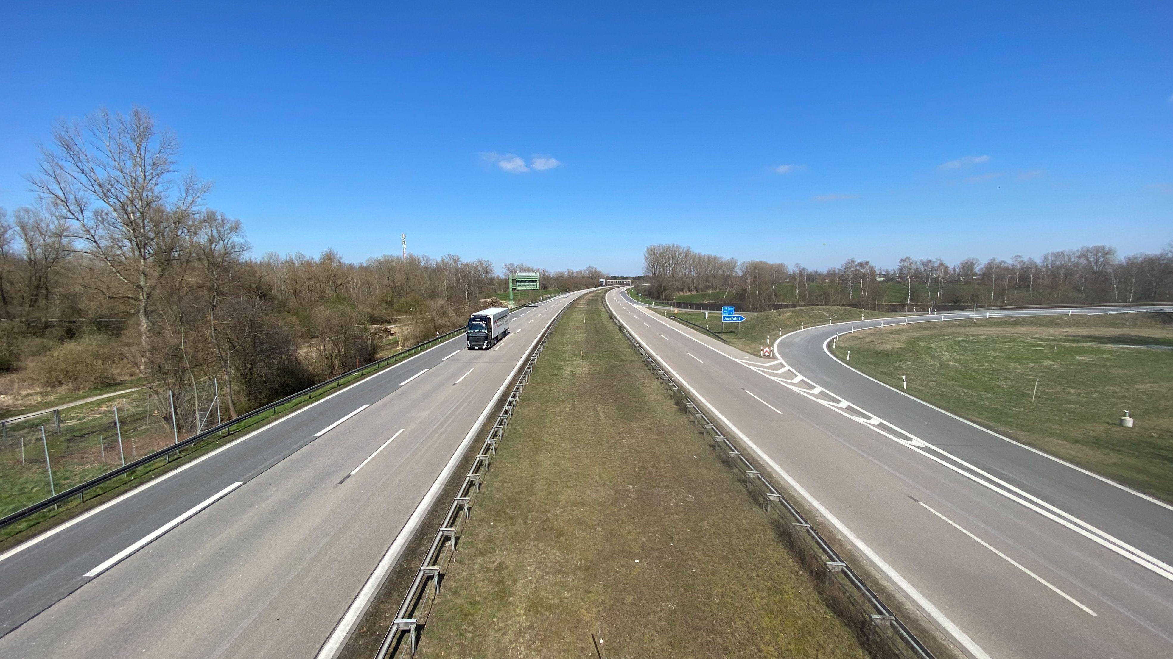 So leer wie derzeit sind die bayerischen Autobahnen fast nie.