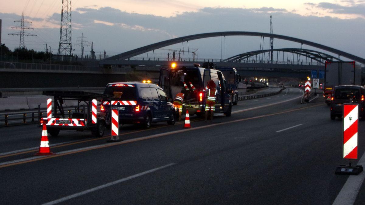 Bauarbeiten am Autobahnkreuz Erlangen/Fürth