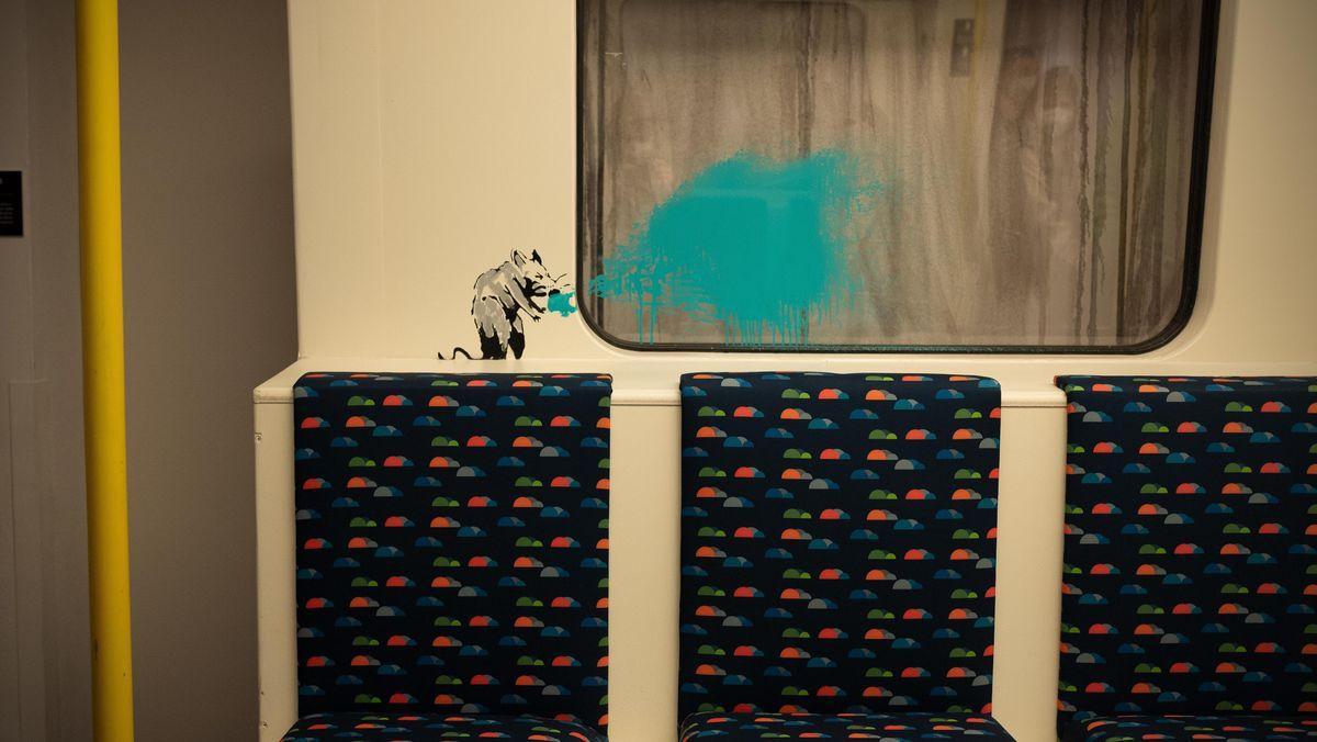 Eine niesende Ratte in der Londoner U-Bahn.