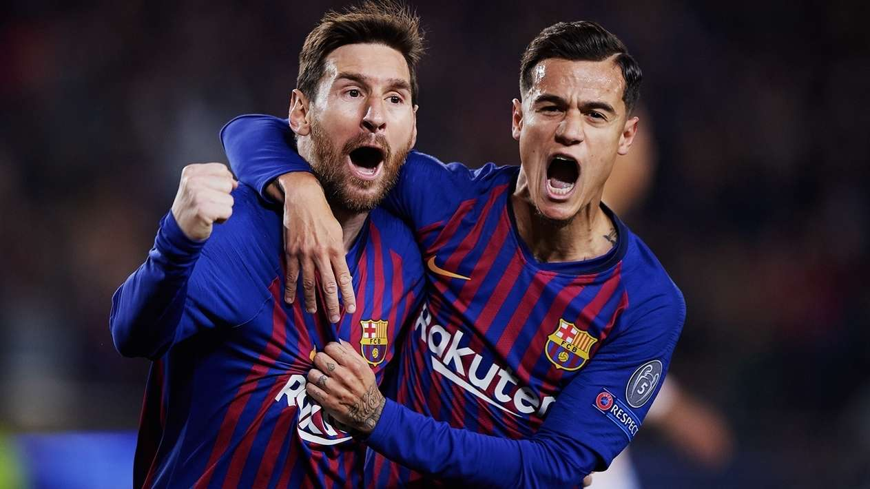 Lionel Messi (l.) jubelt
