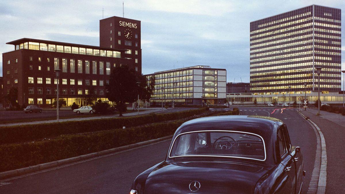 Himbeerpalast und Siemens-Hochhaus 1962