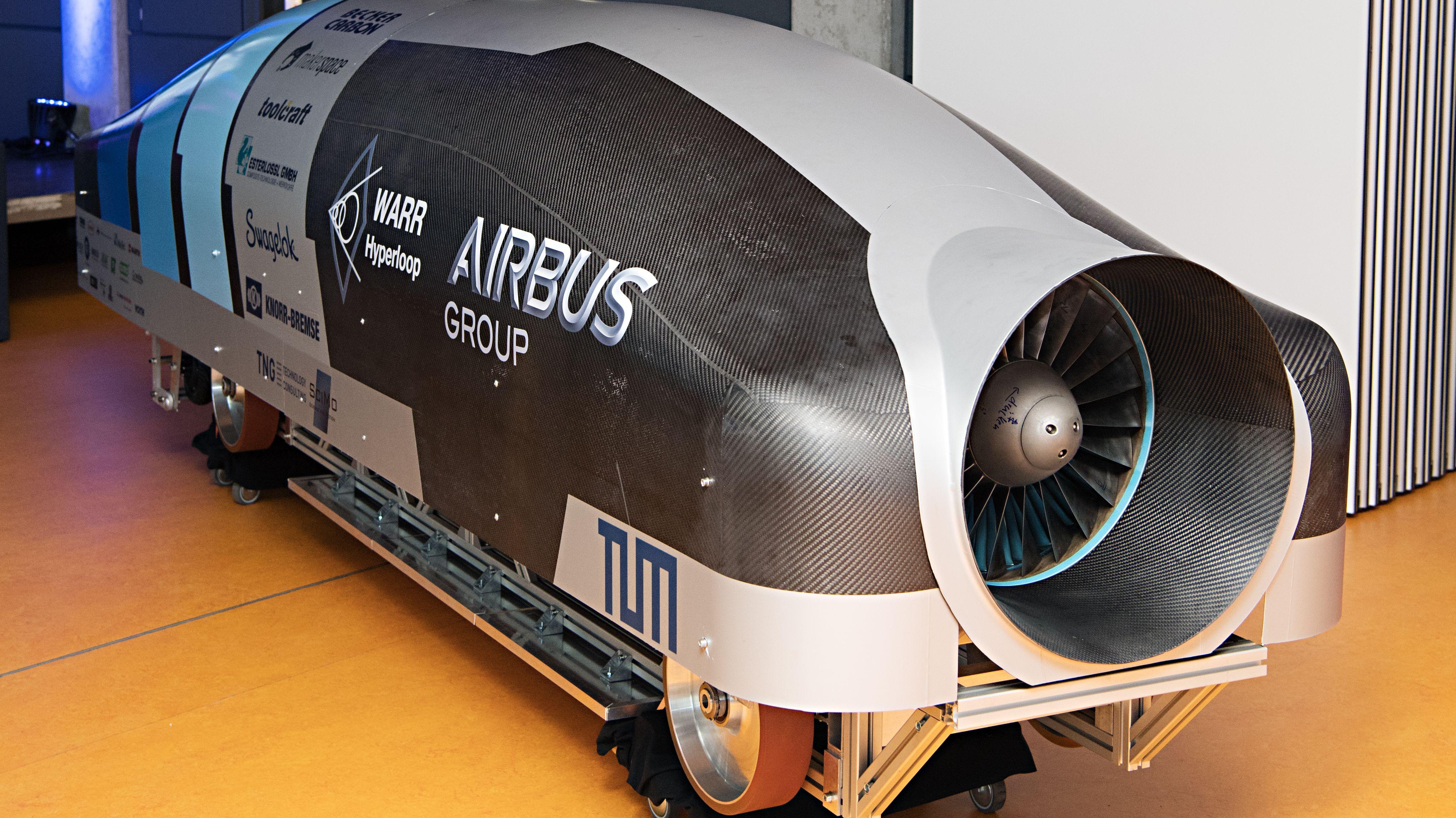 Hyperloop-Fahrzeug POD der TU München