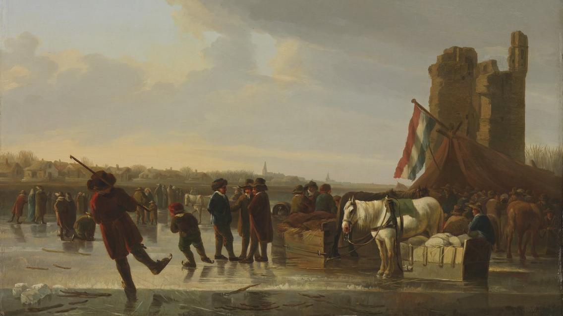 Auf dem Eis, gemalt von Albert Cuyp: Von den Nazis geraubte Kunstwerke werden zurückgegeben an Erben.