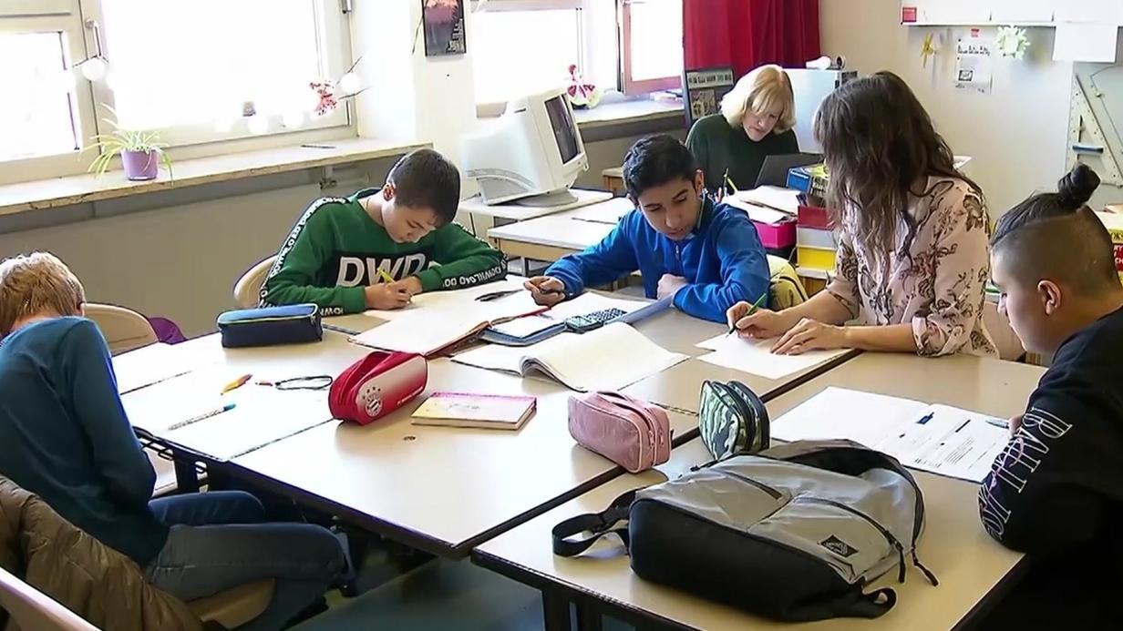 Schulkinder der Ganztagsschule in Gräfenberg