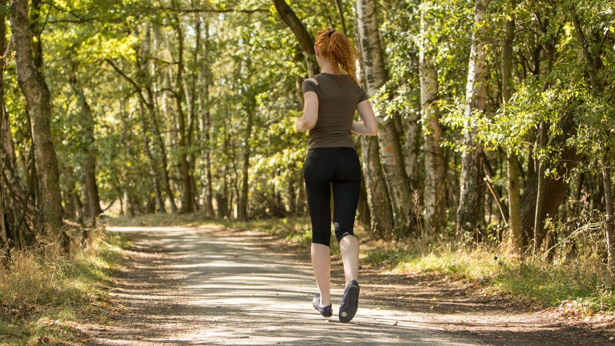 Joggerin im Wald (Symbolbild)