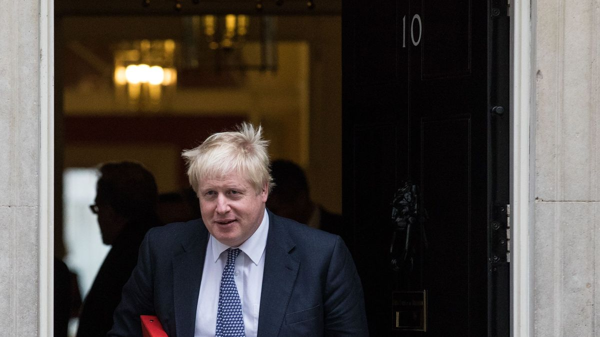 Boris Johnson am Eingang von 10 Downing Street