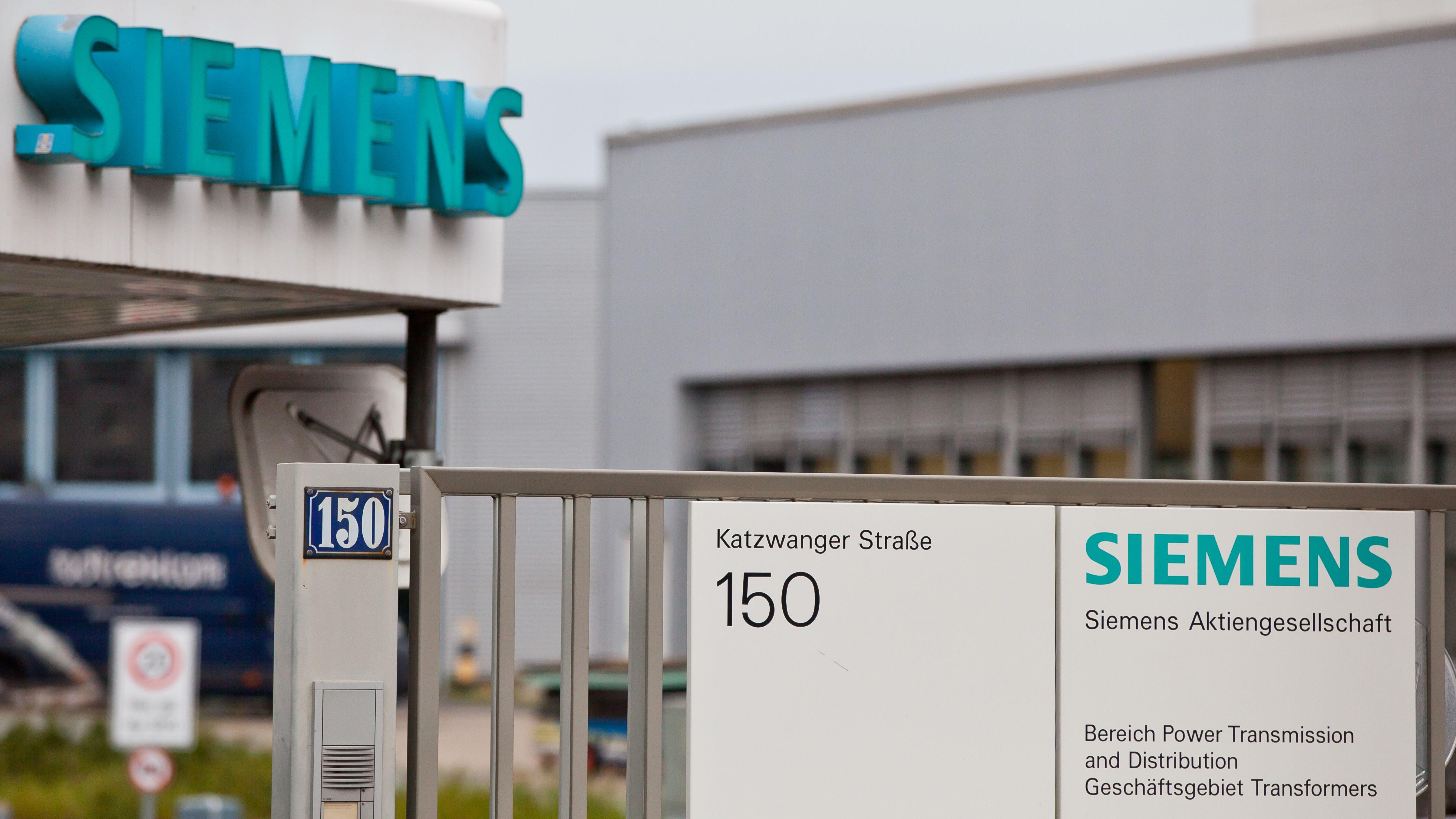 Firmengelände des Siemens Trafowerks in Nürnberg