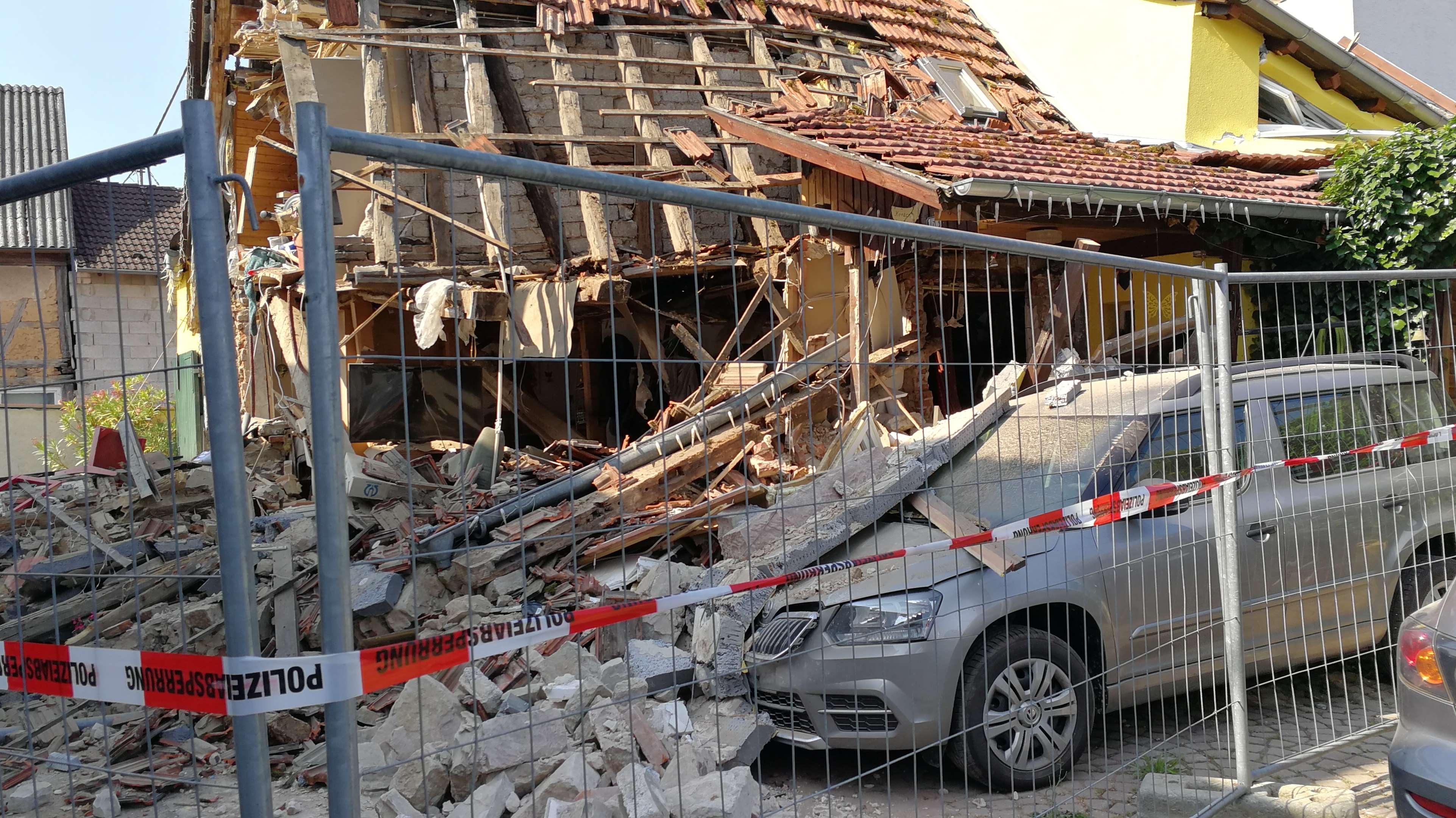 Zerstörtes Wohnhaus in Himmelstadt