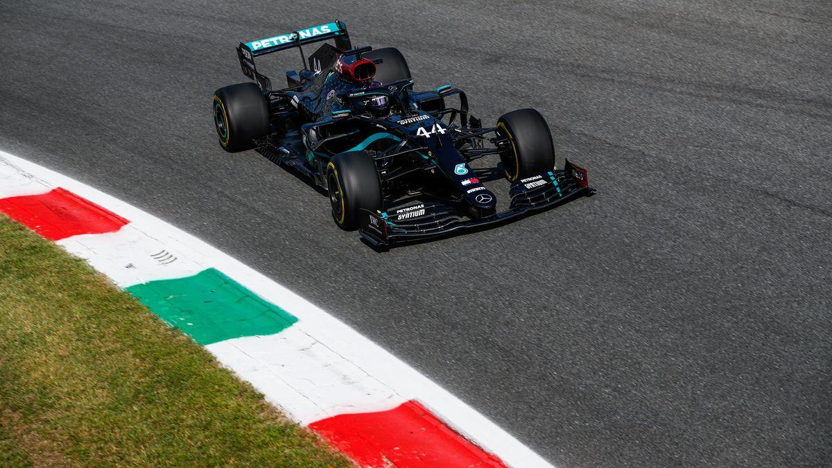Lewis Hamilton auf dem Kurs in Monza