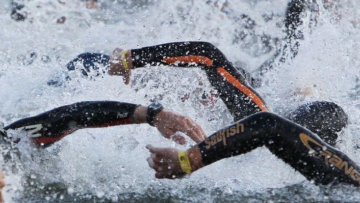 Triathlon Schwimmer
