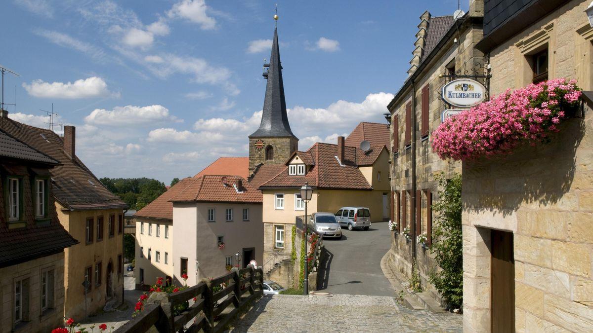Der Obere Markt in Thurnau im Landkreis Kulmbach.