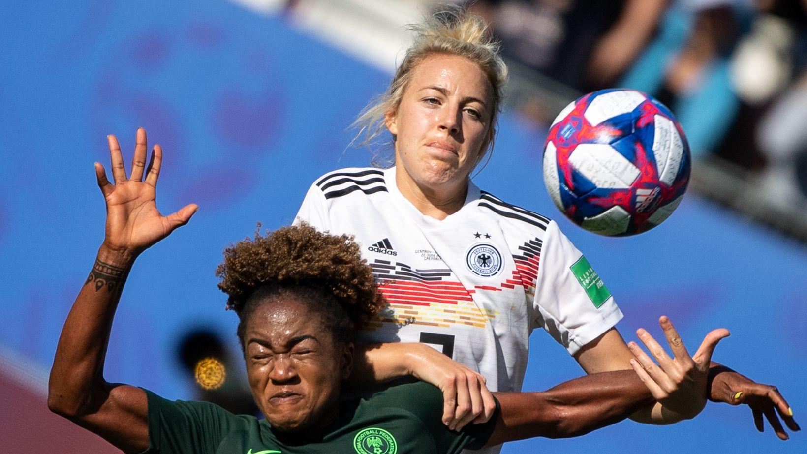 Spielszene Deutschland - Nigeria