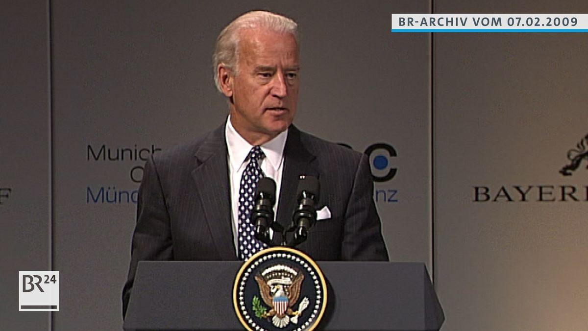 Joe Biden am Rednerpult