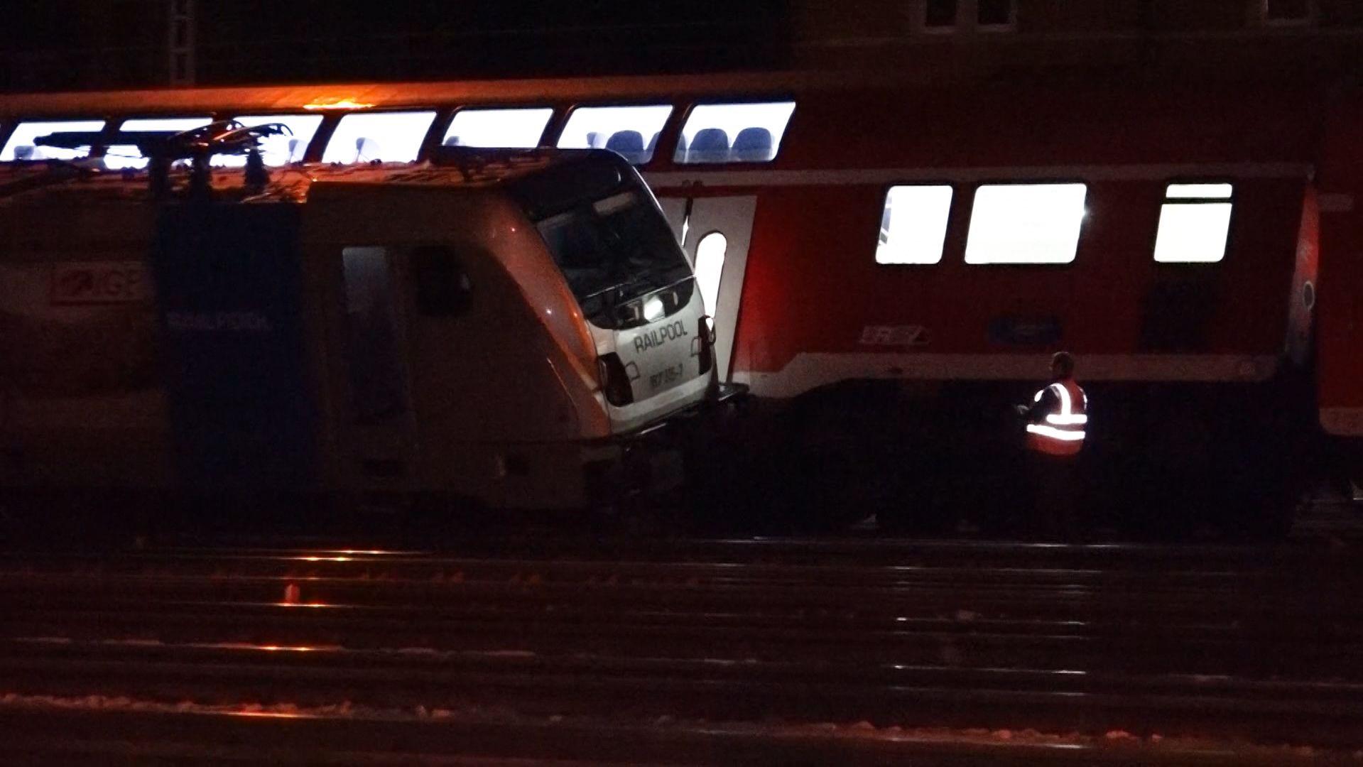 Kollision zwischen einem Güterzug und einem Regionalexpress in Würzburg