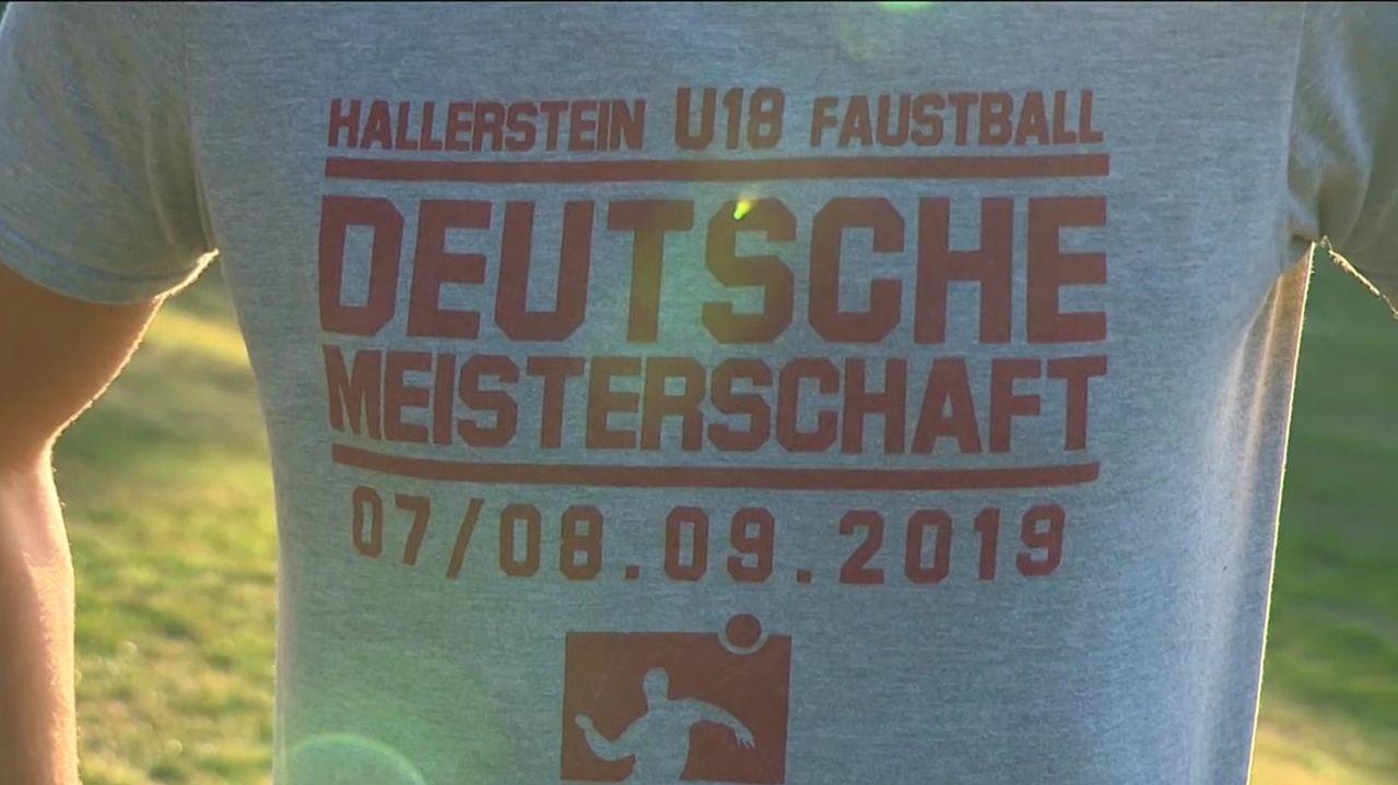 Shirt mit Aufschrift für Deutsche Faustball-Meisterschaft