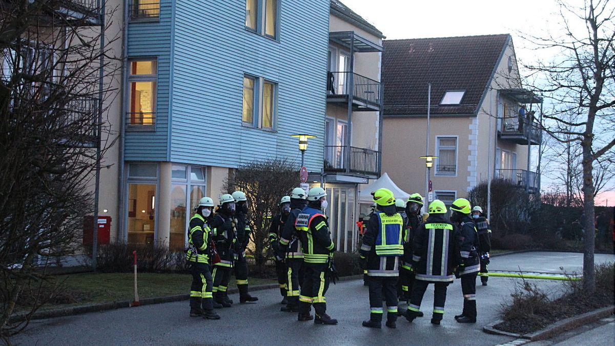 Zimmerbrand in einem Seniorenheim in St. Wolfgang im Landkreis Erding.