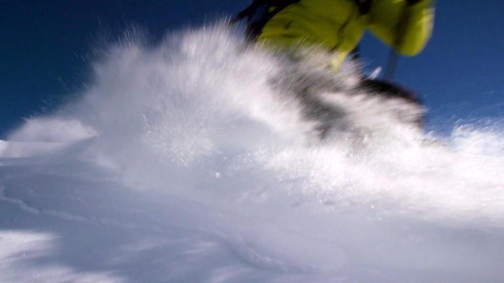 Skifahrer auf der Piste | Bild:BR Archiv