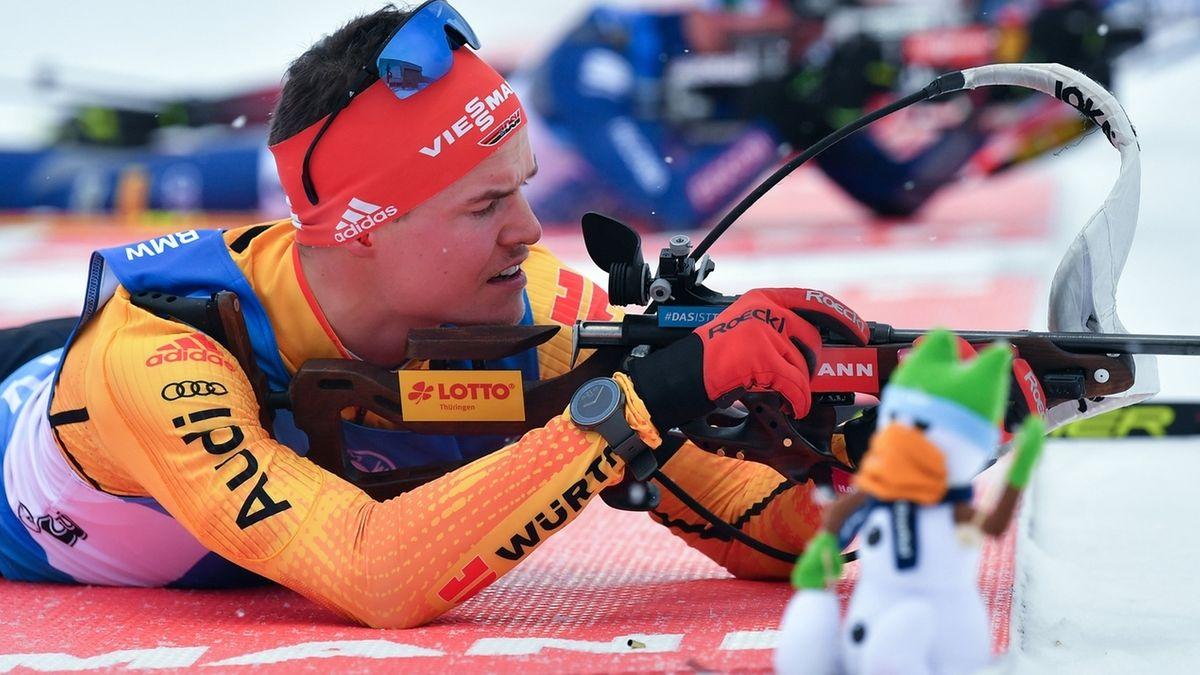 Biathlon-Weltcup in Oberhof.