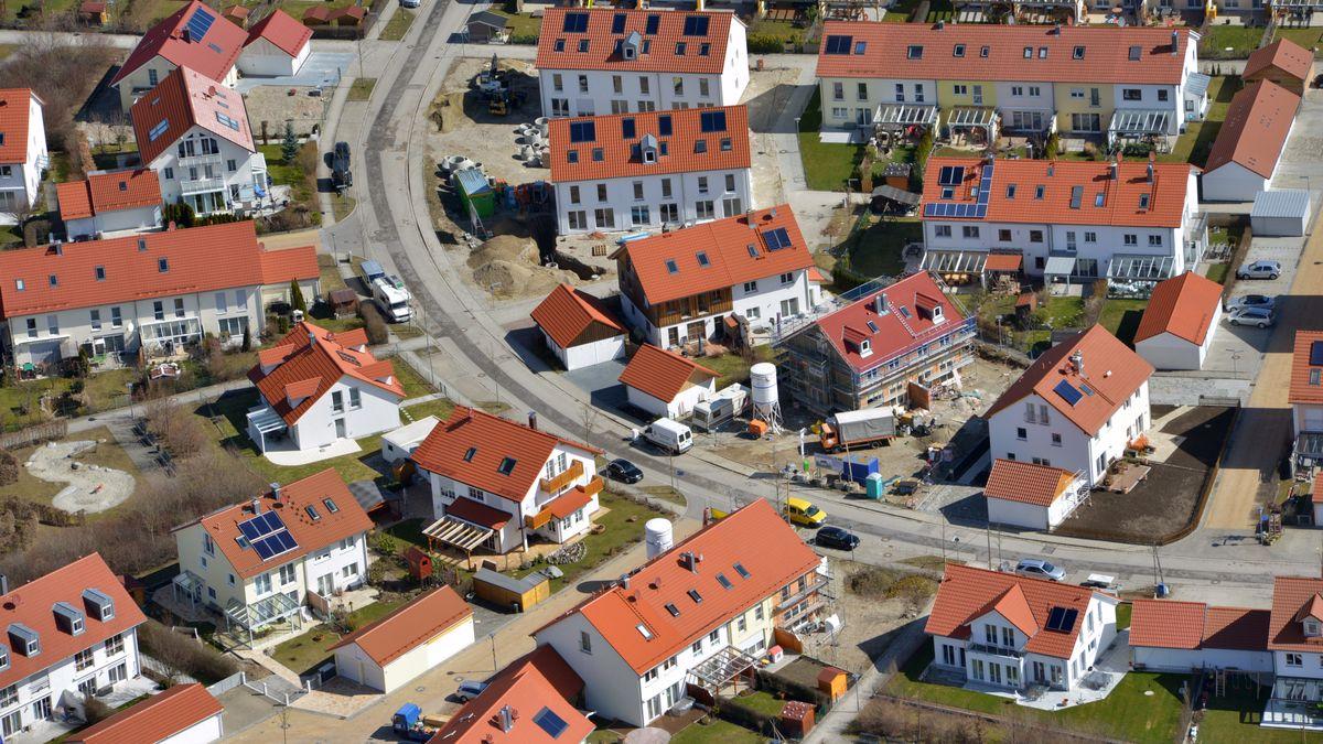 Immobilienpreise: Neubausiedlung bei München