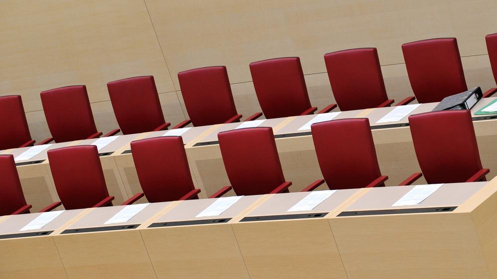 Regierungsbank im Bayerischen Landtag   Bild:pa / dpa / Peter Kneffel