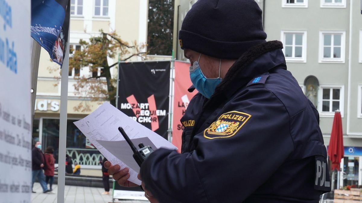 Polizeikontrolle in Augsburg