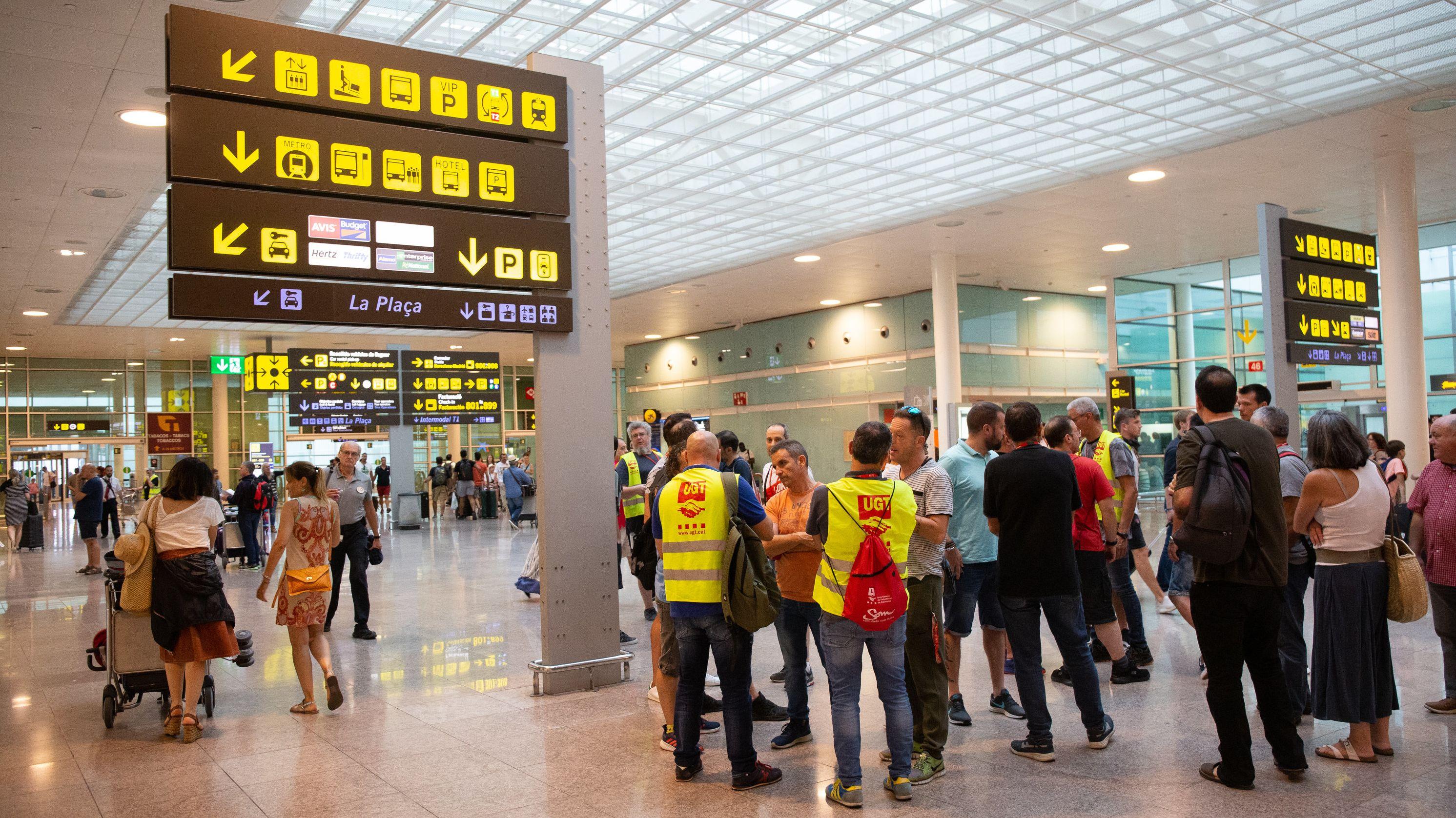 Streik des Bodenpersonals von Iberia am Flughafen El Prat in Barcelona.