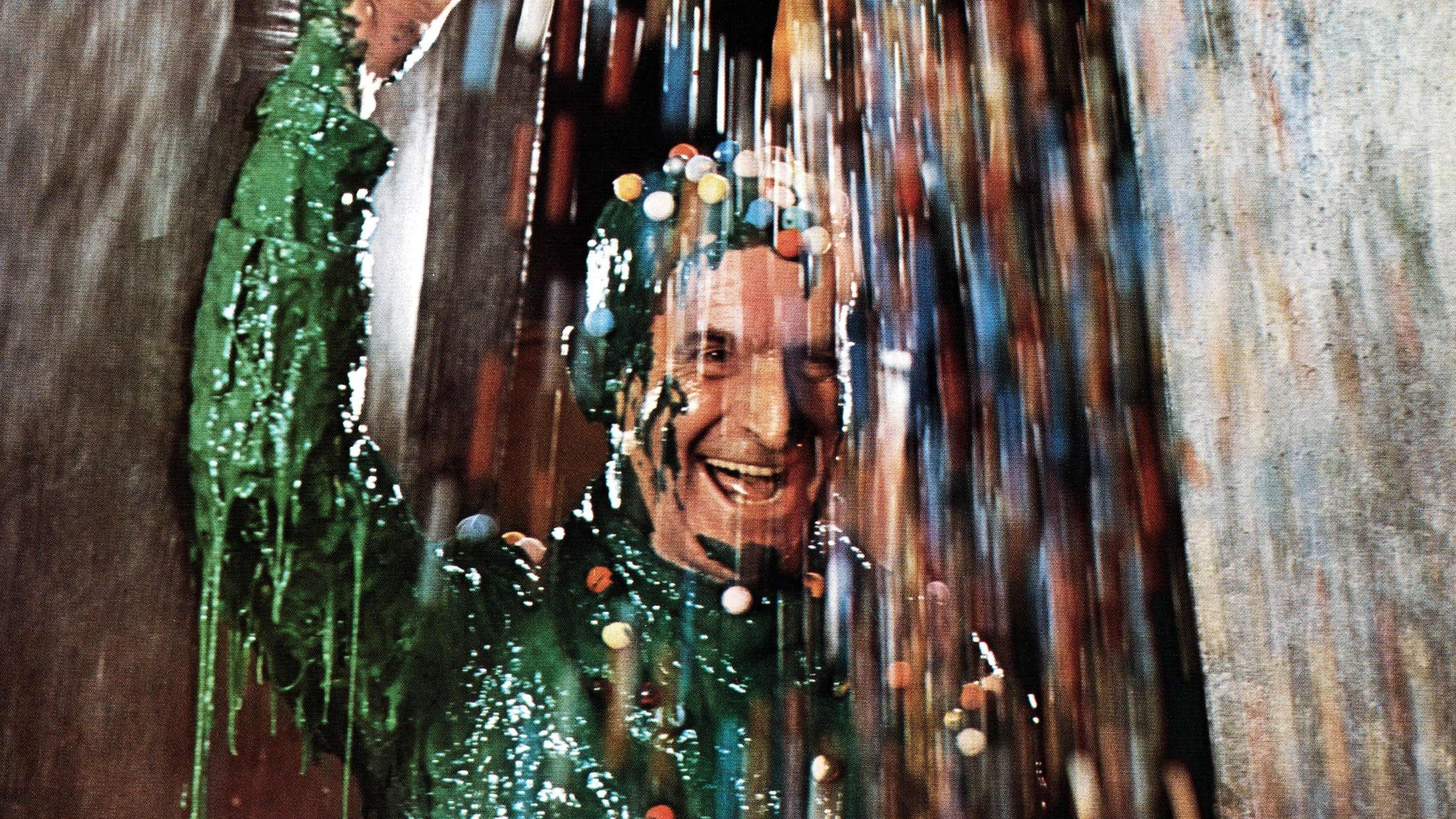"Louis de Funés nimmt ein Bad in grünem Schleim (Szene aus ""Die Abenteuer des Rabbi Jacob"")"