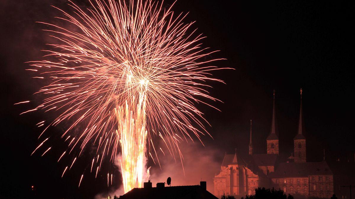 Feuerwerk über Bamberg