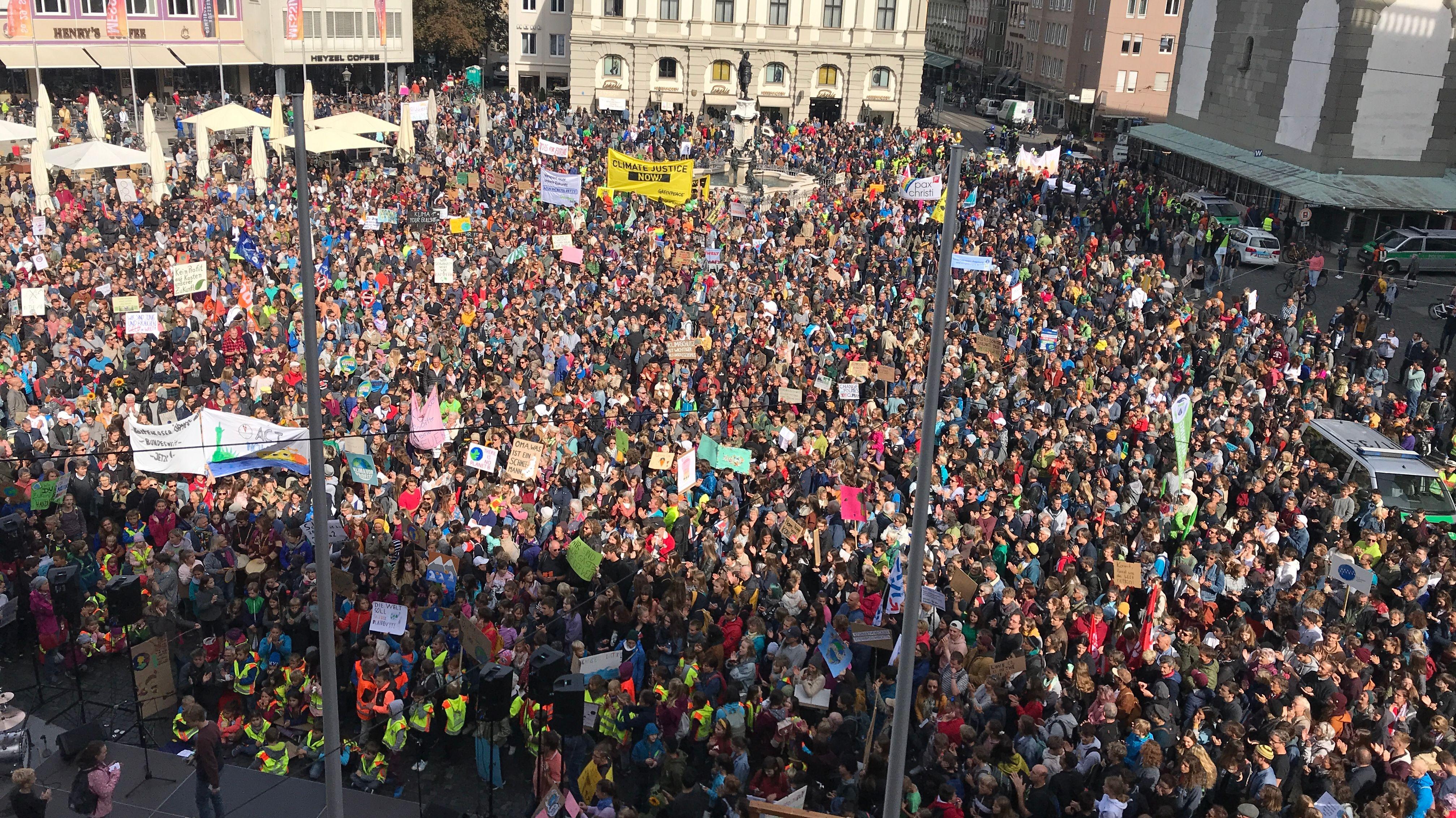 Klimaprotest in Augsburg
